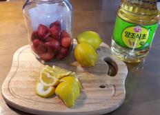 딸기레몬식초 과일식초만들기 봄 깨쟁이요리