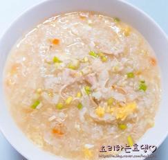 [치킨스톡활용] 캔닭가슴살 이용 초간단 닭죽만들기^^