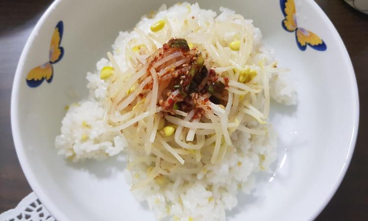 간단한 '콩나물밥' 만들기!