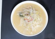 피코크 돈코츠라멘, 일본라멘과 가장 근접, 숙주와 마늘 넣어 맛이 더 풍부!