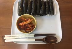 오징어 무침이 너무 맛있는 충무김밥