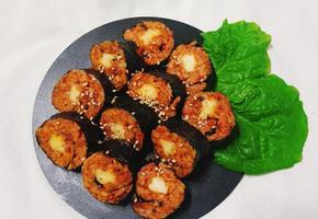 매콤 고소 치즈가 쭈욱~~늘어나는 신전 치즈김밥 만들기