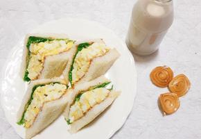 로손 편의점 계란 샌드위치 만들기