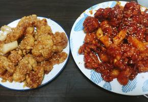 빠삭빠삭하게! 식어도 눅눅해지지 않는 두가지 맛 닭강정 만들기!