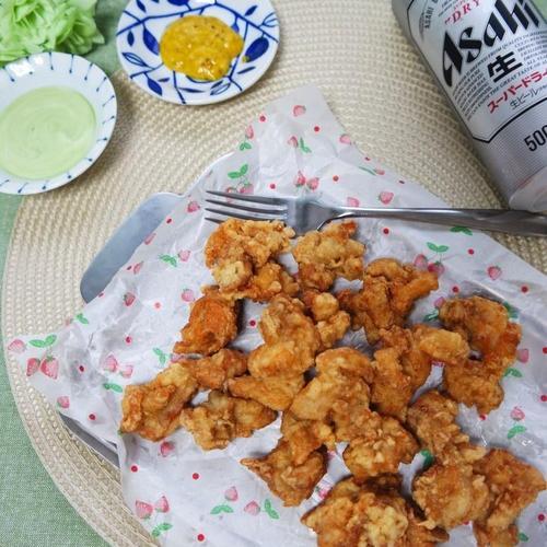 치킨가라아게 만들기,일본식닭튀김