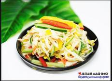 콩나물냉채 겨자소스 버무리기