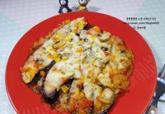 바지락 가지 피자(쌈장 소스, NO 밀가루)