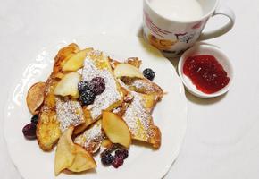 간단한 아침식사 달콤한 프렌치 토스트 만들기