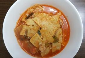 김치어묵국밥 해장요리로 안성맞춤!