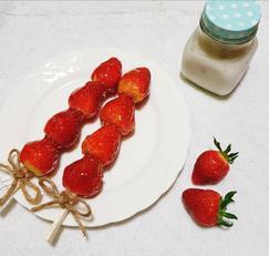 절대 실패없는 딸기 탕후루 만들기 (물엿없이 만들기)
