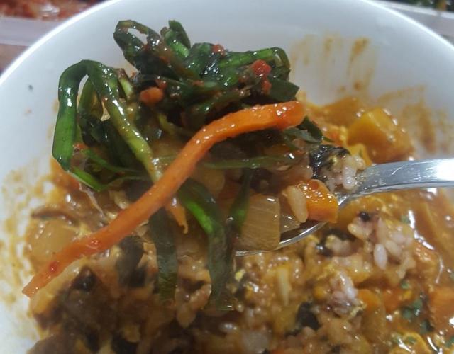 오징어카레덮밥