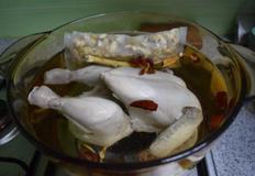 초복삼계탕: 닭손질 후 후다닥 닭삶기