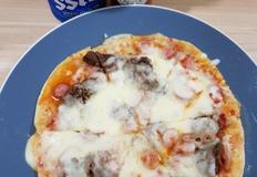 또띠아피자 : 아기간식 + 간단한 야식으로 좋은 불고기 또띠아 피자만들기(전자렌지사용)