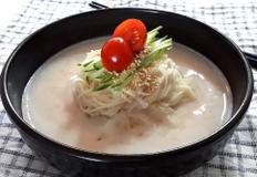 흰 강낭콩 콩국수 만드는 법