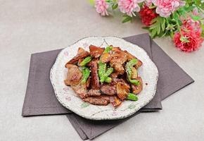 목살 꽈리고추볶음 : 간장양념에 달달 볶은 돼지고기 꽈리고추조림