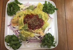 온 가족의 간식 비빔 만두