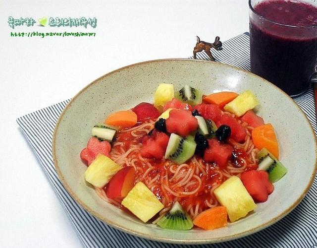과일비빔국수