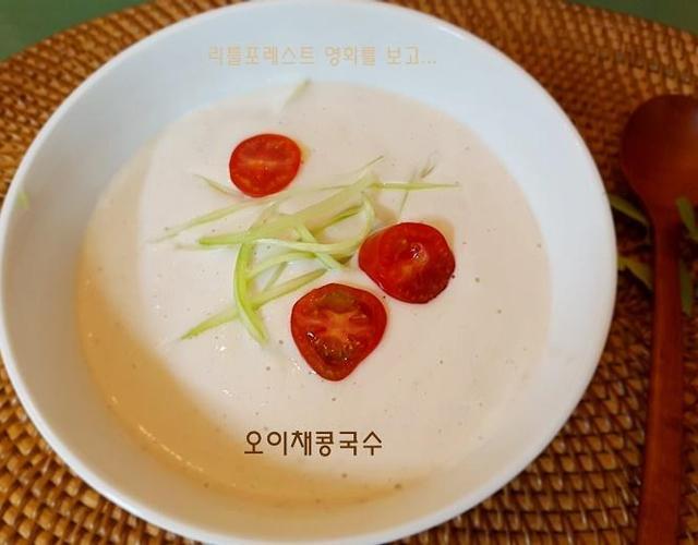 오이채콩국수