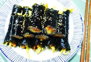 집에 있는 재료로 후다닥 만드는 초간단 후리카케꼬마김밥