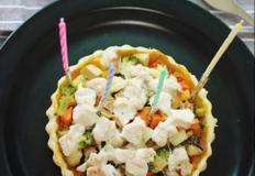 강아지 생일케익 만들기. 딱지야 생일축하해.