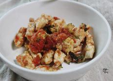강아지 자연식. 화식. 토마토 치킨 스튜
