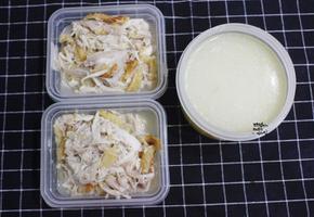 강아지 보양식 황태삼계탕. 뜨거운 여름 지친 댕댕이를 위한 영양식.