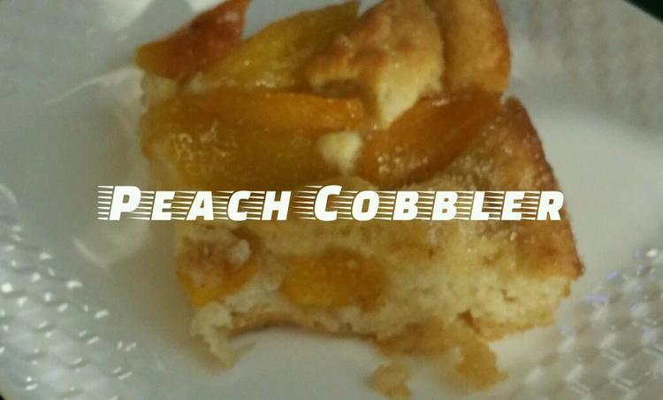 제철 황도복숭아로 초간단 파이, 피치 카블러