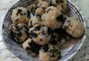유아식-김가루 미니 오니기리(미니 주먹밥)