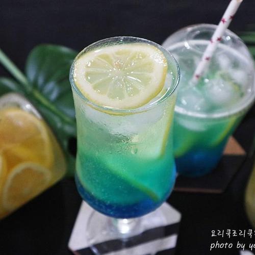 블루 레몬에이드 상콤하게 만들기~
