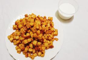 달콤 바삭 캬라멜 식빵팝콘 만들기