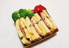 초간단 도시락 햄에그 샌드위치 만들기