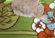 먹다 남은 샤브샤브 고기로 만든 주먹밥