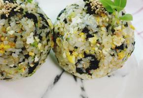 스팸마요 주먹밥. 김자반요리, 파래자반요리