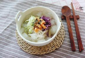 묵밥, 묵사발 만들기. 냉면육수를 활용해 간단한 요리!