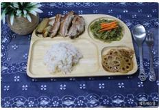 아이 반찬, 유아식 식단, 유아 반찬, 등갈비 소금구이, 미역줄기볶음, 연근조림, 4살 식단, 3살 식단, 44개월