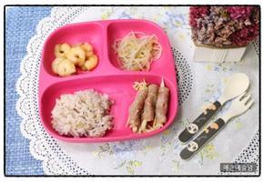 아이 반찬, 유아식 식단, 유아 반찬, 마늘간장 새우 조림, 숙주 무침, 팽이 훈제오리 말이, 4살 식단. 3살 식
