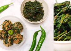 2천원 반찬! 고추잎무침 + 주먹밥 도시락까지 만들기