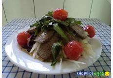 장조림겨자냉채:소고기장조림 활용요리