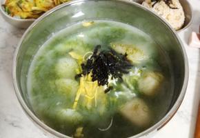 매생이 떡국(사골육수로 끓여 깊고 진한 맛!)