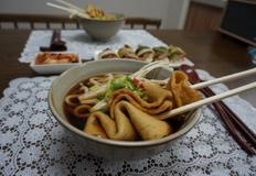어묵우동과 차돌박이묵은지초밥^^ 치타숑우동세트!!