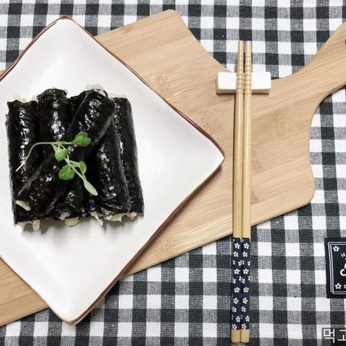 크래미 마요 꼬마 김밥 만들기 (with 단무지)