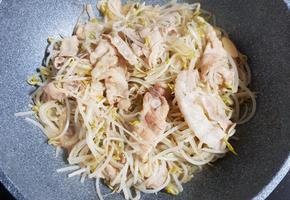 대패삼겹살 숙주볶음 초간단 요리