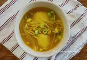 (국물요리)감자콩나물국/콩나물카레국:카레가루로 맛내기