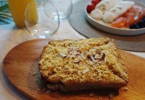 인절미토스트만들기:: 초 간단한 간식! 찹쌀 시루떡으로 만들었더니 쫄깃 꼬소