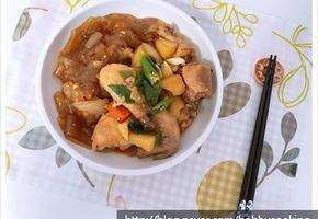 쫄깃쫄깃한 중국 당면으로 집밥백선생 찜닭 만들기.