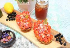 토마토 마리네이드 오픈샌드위치 만들기