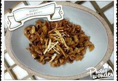 가을에보약 버섯으로 요리하기---미니새송이버섯진피조림