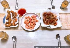 새우 3종 세트 : 새우 소금구이 + 새우 머리 감바스 + 새우튀김 만들기