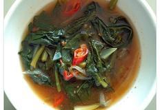 (국물요리)시금치된장국:열반찬 안부러운 잘 끓인 국 한그릇