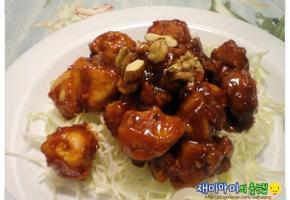순살닭강정/닭가슴살양념치킨:다이어트 중이라면 주목!